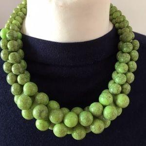 Unusual green vintage necklace